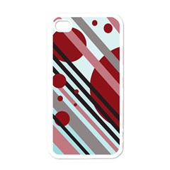 Colorful Lines And Circles Apple Iphone 4 Case (white) by Valentinaart