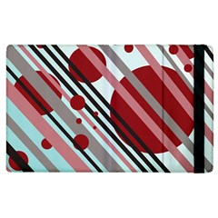 Colorful Lines And Circles Apple Ipad 3/4 Flip Case by Valentinaart