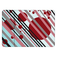 Colorful Lines And Circles Samsung Galaxy Tab 8 9  P7300 Flip Case by Valentinaart