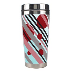 Colorful Lines And Circles Stainless Steel Travel Tumblers by Valentinaart