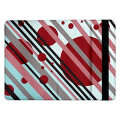 Colorful Lines And Circles Samsung Galaxy Tab Pro 12 2  Flip Case by Valentinaart