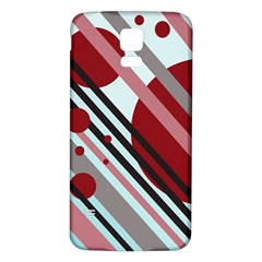Colorful Lines And Circles Samsung Galaxy S5 Back Case (white) by Valentinaart