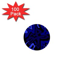 Deep Blue Abstraction 1  Mini Buttons (100 Pack)  by Valentinaart