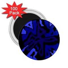 Deep Blue Abstraction 2 25  Magnets (100 Pack)  by Valentinaart
