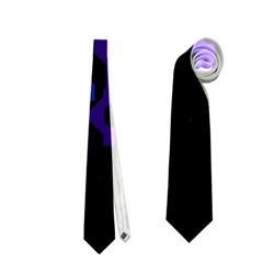 Deep Blue Abstraction Neckties (one Side)  by Valentinaart