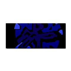 Deep Blue Abstraction Hand Towel