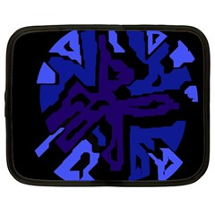 Deep Blue Abstraction Netbook Case (xxl)  by Valentinaart