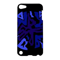 Deep Blue Abstraction Apple Ipod Touch 5 Hardshell Case by Valentinaart
