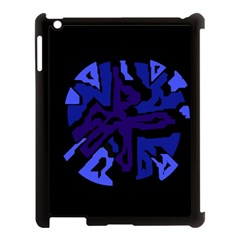 Deep Blue Abstraction Apple Ipad 3/4 Case (black) by Valentinaart