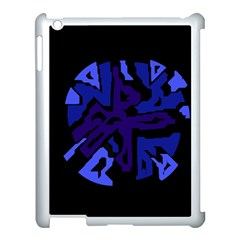 Deep Blue Abstraction Apple Ipad 3/4 Case (white) by Valentinaart