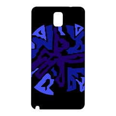 Deep Blue Abstraction Samsung Galaxy Note 3 N9005 Hardshell Back Case by Valentinaart
