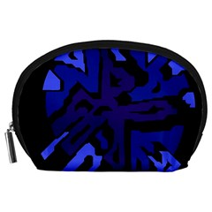 Deep Blue Abstraction Accessory Pouches (large)  by Valentinaart