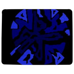 Deep Blue Abstraction Jigsaw Puzzle Photo Stand (rectangular) by Valentinaart
