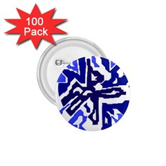 Deep Blue Abstraction 1 75  Buttons (100 Pack)  by Valentinaart