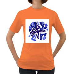 Deep Blue Abstraction Women s Dark T Shirt by Valentinaart