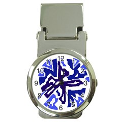 Deep Blue Abstraction Money Clip Watches by Valentinaart