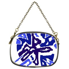 Deep Blue Abstraction Chain Purses (two Sides)  by Valentinaart