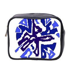 Deep Blue Abstraction Mini Toiletries Bag 2 Side