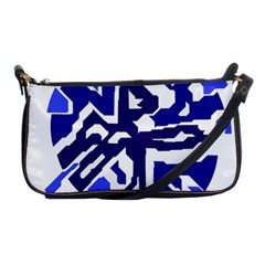 Deep Blue Abstraction Shoulder Clutch Bags by Valentinaart
