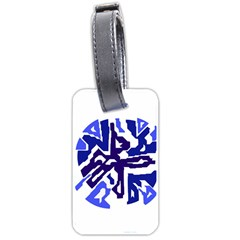 Deep Blue Abstraction Luggage Tags (two Sides) by Valentinaart