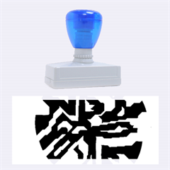 Deep Blue Abstraction Rubber Stamps (large) by Valentinaart