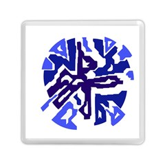 Deep Blue Abstraction Memory Card Reader (square)  by Valentinaart