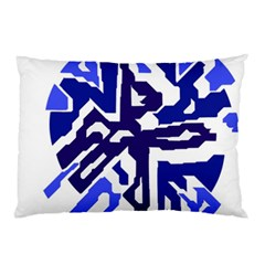 Deep Blue Abstraction Pillow Case (two Sides) by Valentinaart