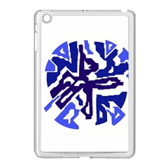 Deep Blue Abstraction Apple Ipad Mini Case (white) by Valentinaart