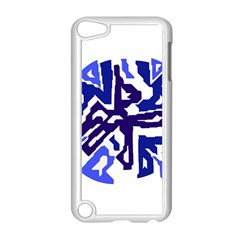 Deep Blue Abstraction Apple Ipod Touch 5 Case (white) by Valentinaart