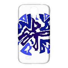 Deep Blue Abstraction Samsung Galaxy S4 Classic Hardshell Case (pc+silicone) by Valentinaart