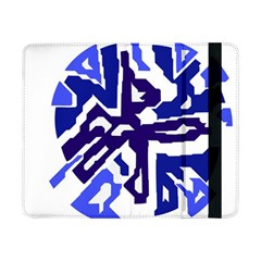 Deep Blue Abstraction Samsung Galaxy Tab Pro 8 4  Flip Case by Valentinaart