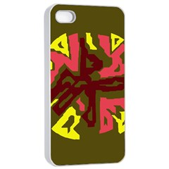 Abstraction Apple Iphone 4/4s Seamless Case (white) by Valentinaart