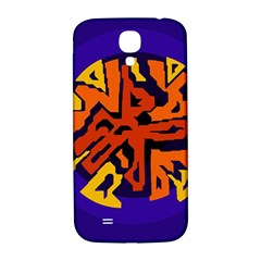 Orange Ball Samsung Galaxy S4 I9500/i9505  Hardshell Back Case by Valentinaart