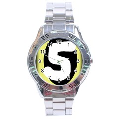Number Five Stainless Steel Analogue Watch by Valentinaart