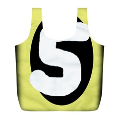 Number Five Full Print Recycle Bags (l)  by Valentinaart
