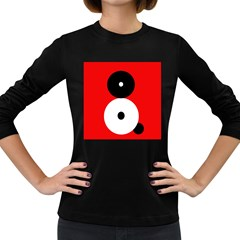 Number Eight Women s Long Sleeve Dark T Shirts