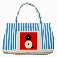 Number Eight Striped Blue Tote Bag by Valentinaart