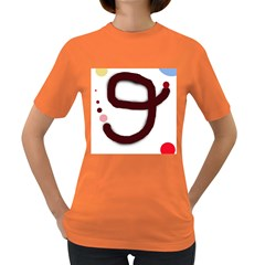 Number Nine Women s Dark T Shirt by Valentinaart