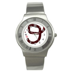 Number Nine Stainless Steel Watch by Valentinaart