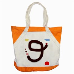Number Nine Accent Tote Bag by Valentinaart
