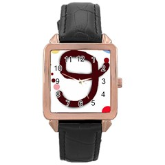 Number Nine Rose Gold Leather Watch  by Valentinaart
