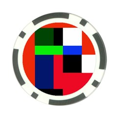 Colorful Abstraction Poker Chip Card Guards by Valentinaart