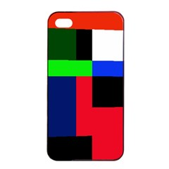 Colorful Abstraction Apple Iphone 4/4s Seamless Case (black) by Valentinaart