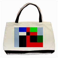 Colorful Abstraction Basic Tote Bag (two Sides) by Valentinaart