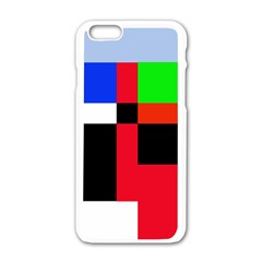 Colorful Abstraction Apple Iphone 6/6s White Enamel Case by Valentinaart