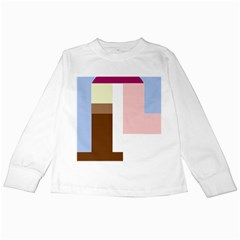 Colorful Abstraction Kids Long Sleeve T Shirts by Valentinaart