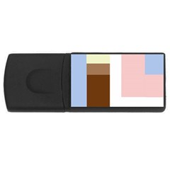 Colorful Abstraction Usb Flash Drive Rectangular (4 Gb)  by Valentinaart