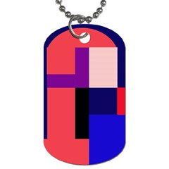 Colorful Abstraction Dog Tag (one Side) by Valentinaart