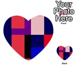Colorful abstraction Multi-purpose Cards (Heart)  Front 45