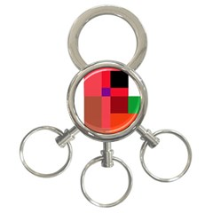 Colorful Abstraction 3 Ring Key Chains by Valentinaart